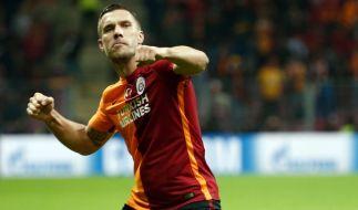 Lukas Podolski schoss das entscheidende Tor zum Sieg. (Foto)