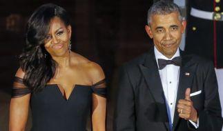 Barack Obama mit seiner First Lady Michelle. (Foto)
