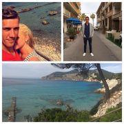 Nils Petersen tankt im gemeinsamen Urlaub mit seiner Freundin Kraft für die kommende Bundesliga-Saison.