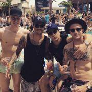 Mit der Gang in Las Vegas: Leonardo Bittencourt, Yannick Gerhardt und Kevin Vogt.