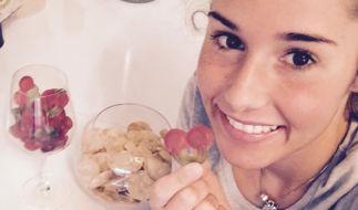 Sarah Lombardi wirbt für eine Fitness-Webseite. (Foto)