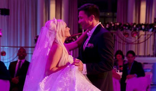 Den ersten gemeinsamen Tanz als Ehepaar meisterten Daniela und Lucas mit Bravour.