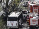 Nach dem Bombenanschlag in Istanbul bleibt die Lage angespannt. (Foto)
