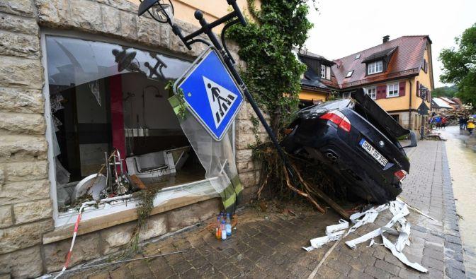 Braunsbach am 30. Mai 2016: Tagelange Unwetter mit Starkregen haben erhebliche Schäden angerichtet. (Foto)