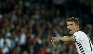 """""""Ich finde, Spieler wie Mesut oder Jérôme sind in Deutschland geboren und aufgewachsen. Mehr Deutsch geht kaum"""", so Thomas Müller. (Foto)"""