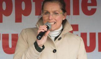Die Pegida-Aktivistin Tatjana Festerling soll angeblich bei den montäglichen Kundgebungen nicht mehr reden dürfen. (Foto)