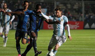 Lionel Messi (rechts) will mit Argentinien den Titel gewinnen. (Foto)