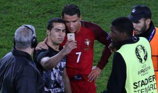 Selfie mit Christiano Ronaldo. (Foto)
