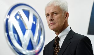 Matthias Müller, Vorstandsvorsitzender der Volkswagen AG, am 11. Januar 2016 bei der North American International Auto Show (NAIAS) in Detroit (Michigan, USA). (Foto)