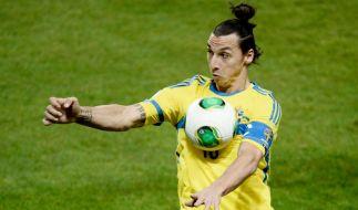 Zlatan Ibrahimovic wird nach der Fußball-Europameisterschaft 2016 seine Karriere in der schwedischen Nationalmannschaft beenden. (Foto)