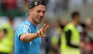 Der deutsche Fußballer Lukas Podolski sehr gut mit Rapper Sido befreundet. (Foto)