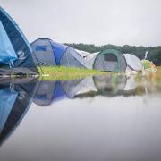 Auch der Zeltplatz des Hurricane-Festivals in Scheeßel war überflutet.