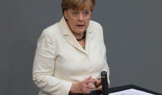 Bundeskanzlerin Angela Merkel (CDU) hält am 28. Juni 2016 in Berlin im Bundestag eine Regierungserklärung nach dem Brexit-Votum der Briten zu einem EU-Austritt. (Foto)
