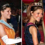 Ende 1997 schockt Prinzessin Victoria die Schweden mit ihrer abgemagerten Erscheinung. Die damals 20-Jährige litt unter dem zunehmenden Druck der Öffentlichkeit und kämpfte jahrelang mit ihrer Magersucht. (links April 1996, rechts November 1997)