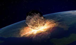 Eines der Untergangs-Szenarien: Apokalypse durch Meteoriten-Einschlag. (Foto)