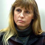 Michelle Martin nach ihrer Verhaftung am 29. März 2004 auf der Anklagebank des Schwurgerichts in Arlon.