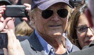 Auch Terence Hill nahm in Rom Abschied von Freund und Kollegen Bud Spencer. (Foto)