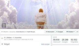 In Stuttgart wollen Fans mit einer Gedächtnisschlägerei an Bud Spencer erinnern. (Foto)