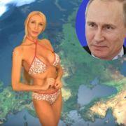 Diese nackte Wetterfee ist Putins schärfste Kritikerin (Foto)