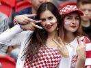Kroatien-Fans drücken ihrer Mannschaft die Daumen. (Foto)