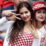 Kroatien-Fans drücken ihrer Mannschaft die Daumen.