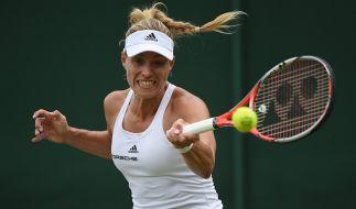 Angelique Kerber ist die letzte verbliebene deutsche Teilnehmerin beim Tennis-Viertelfinale in Wimbledon 2016. (Foto)