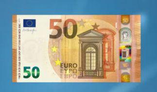 Das ist der neue 50-Euro-Schein. (Foto)
