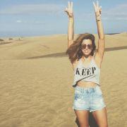 Vanessa Mais typisches Outfit: Superkurze Shorts und bauchfreies Top. Wir sind absolut einverstanden!