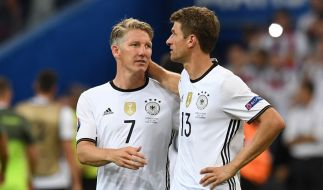Die tragischen Helden der EM: Bastian Schweinsteiger und Thomas Müller. (Foto)