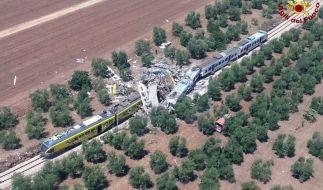 In Italien kamen bei einem Zugunglück mehrere Menschen ums Leben, dutzende wurden verletzt. (Foto)