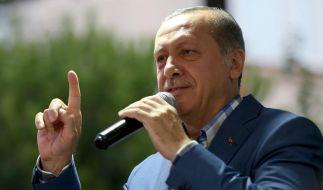 Der türkische Präsident Erdogan will mit aller Härte gegen die Aufständischen vorgehen. (Foto)