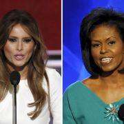 Peinlich! Frau von Donald Trump klaut Rede bei den Obamas (Foto)