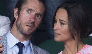 Pippa Middleton und ihr Verlobter James Matthews. (Foto)