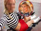 Sich beide Füße bei einem Fotoshooting zu brechen, blieb Heidi Klum bislang zum Glück erspart. (Foto)
