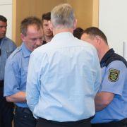 Einer der Täter zum Prozessauftakt im Fall Anneli-Marie.