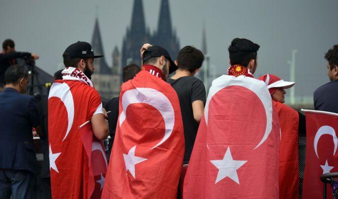 Erdogan-Anhänger in Köln.