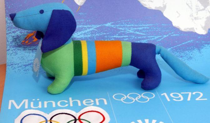 """Der Dackel """"Waldi"""" steht am Anfang einer langen Reihe von Maskottchen bei Olympischen Spielen: Er wurde 1972 bei Olympia in München eingeführt. (Foto)"""