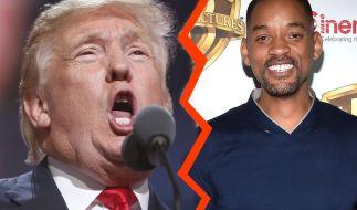 Will Smith und Donald Trump werden in diesem Leben keine Freunde mehr. (Foto)