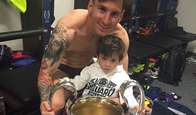 """Auch Rekordschütze Lionel """"Leo"""" Messi zeigt gern seinen Nanchwuchs bei Instagram. (Foto)"""