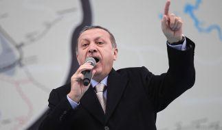Präsident Erdogan wettert aktuell gegen die italienische Justiz. (Foto)