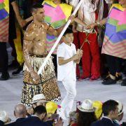 Inselreich Tonga begeistert bei Olympia (Foto)