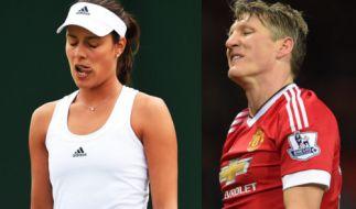 Beide haben ihre Karriere in der Nationalmannschaft beendet: Ana Ivanovic und Bastian Schweinsteiger. (Foto)