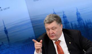 Poroschenko gibt sich im Streit um die Krim kampfbereit. (Foto)