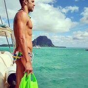 Der südafrikanische Schwimmer Chad le Cos. Wollen wir nur hoffen, dass er nicht von einem Hai verspeist wird.