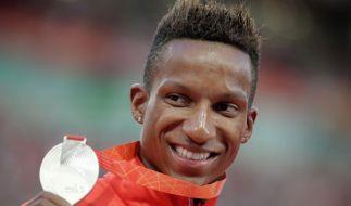 Bei der Leichathletik-WM 2015 in Peking holte Raphael Holzdeppe die Silbermedaille. (Foto)
