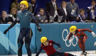 Der Eisschnellläufer Steven Bradbury gewann bei Olympia 2002 durch eine glückliche Fügung. (Foto)