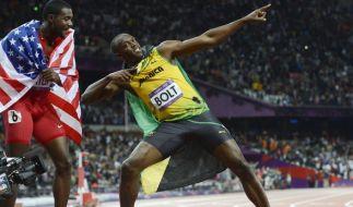 Kann Usain Bolt nach Peking und London, auch in Rio wieder triumphieren? (Foto)