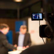 TV-Studio besetzt (Foto)