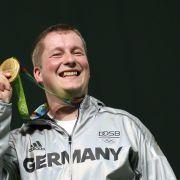 Christian Reitz: Gold im Schießen, Schnellfeuerpistole