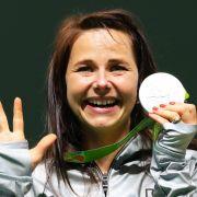 Monika Karsch: Silber im Schießen über 25 Meter mit der Sportpistole